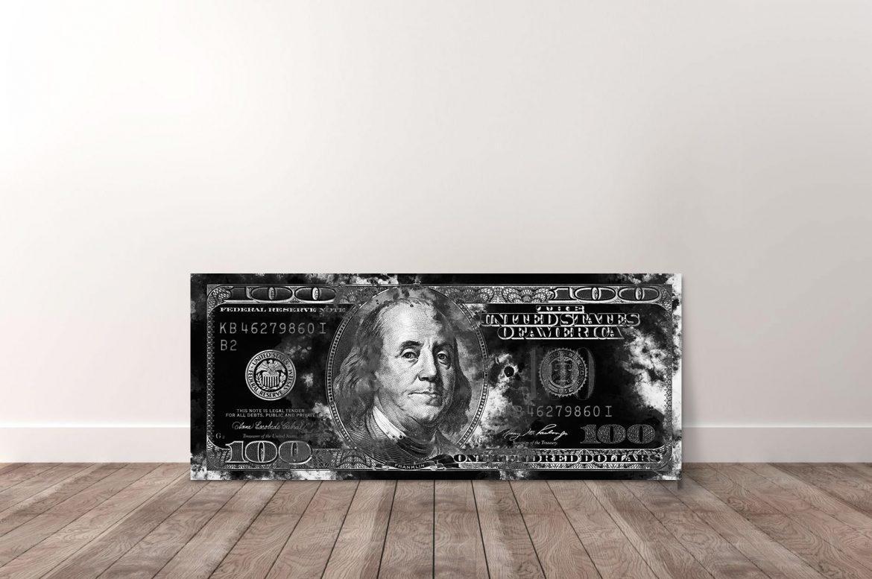 100 Dollar zwart-wit